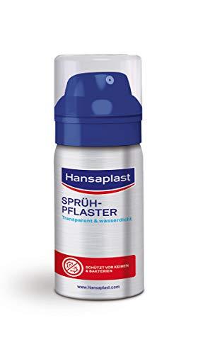 Hansaplast Sprühpflaster (32,5 ml), transparentes Pflasterspray für unsichtbaren Schutz, wasserfestes und atmungsaktives Pflaster für kleine Schnitt- und Schürfwunden