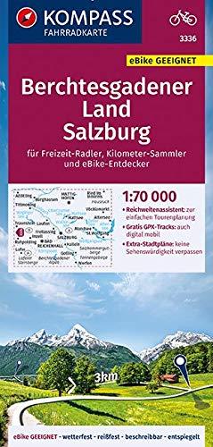 KOMPASS Fahrradkarte Berchtesgadener Land, Salzburg 1:70.000, FK 3336: reiß- und wetterfest mit Extra Stadtplänen (KOMPASS-Fahrradkarten Deutschland, Band 3336)
