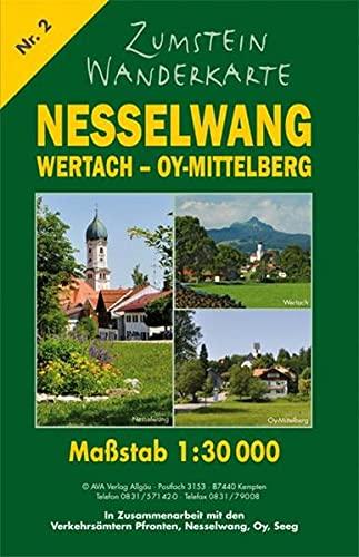 Zumstein Wanderkarte Nesselwang - Wertach - Oy-Mittelberg: 1:30000