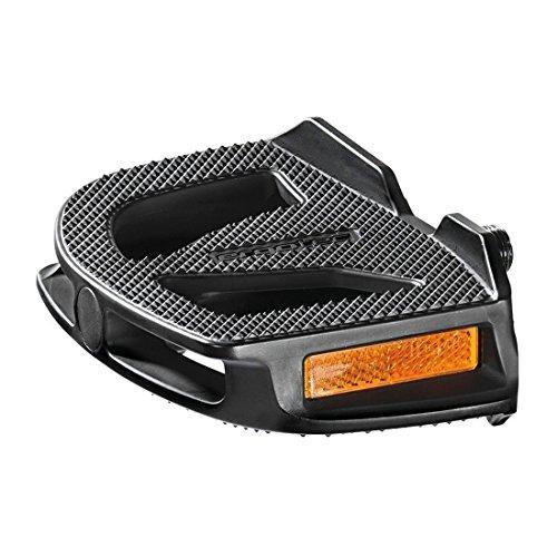 Fahrrad Kunststoffpedal Humpert schwarz, 9/16', mit Reflektoren*