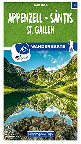 Appenzell - Säntis - St. Gallen Nr. 09 Wanderkarte 1:40 000: Matt laminiert, free Download mit HKF Outdoor App (Kümmerly+Frey Wanderkarten)
