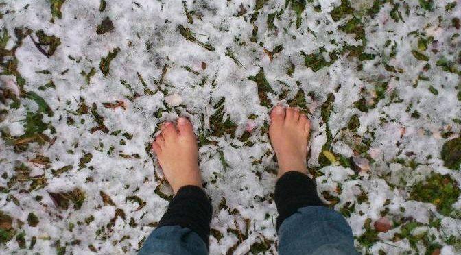 der erste barfuß-winter