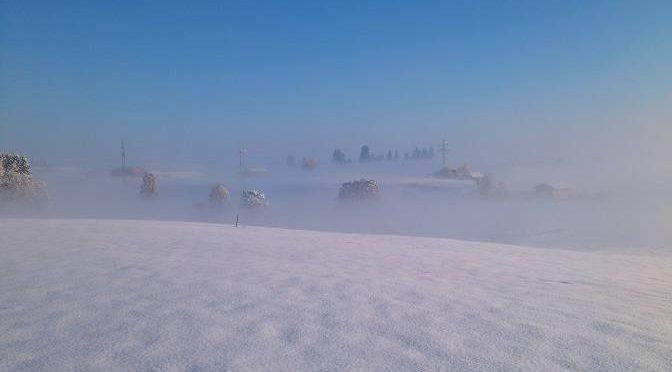 Eva in Schneelandschaft