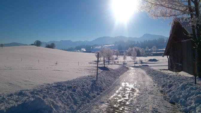 Jahreswechsel bringt Schneeflocken ins Allgäu