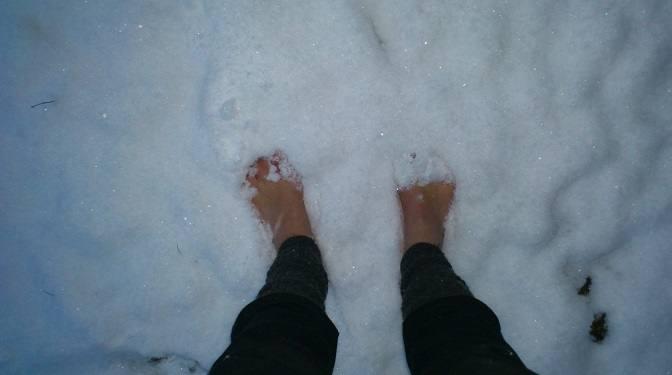 Erste Barfuß-Winter-Erfahrung - Eine Zusammenfassung