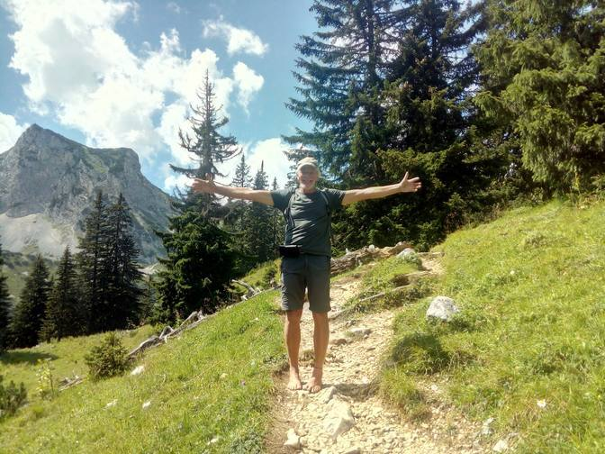 Barfuß auf Hüttentour in die Tannheimer Berge