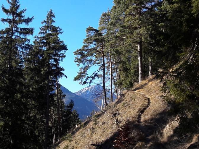 Der Pfad schlängelt sich den Berg hinauf