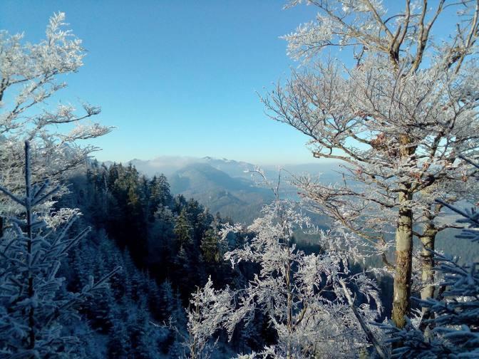 Aussicht vom Dreiländereck Schwarzenberg