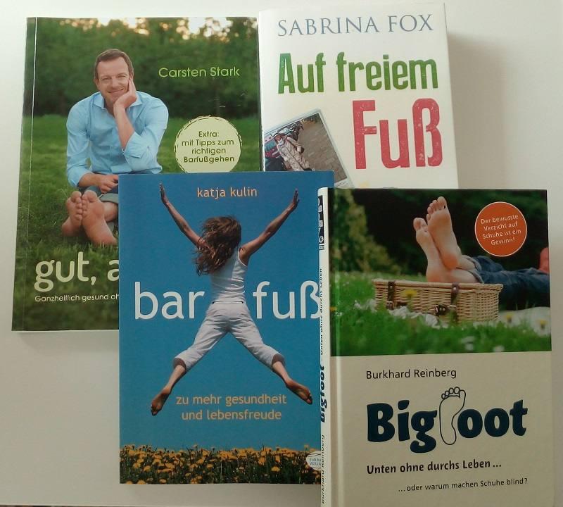 Bücher zum Thema Barfußlaufen und Fußgesundheit