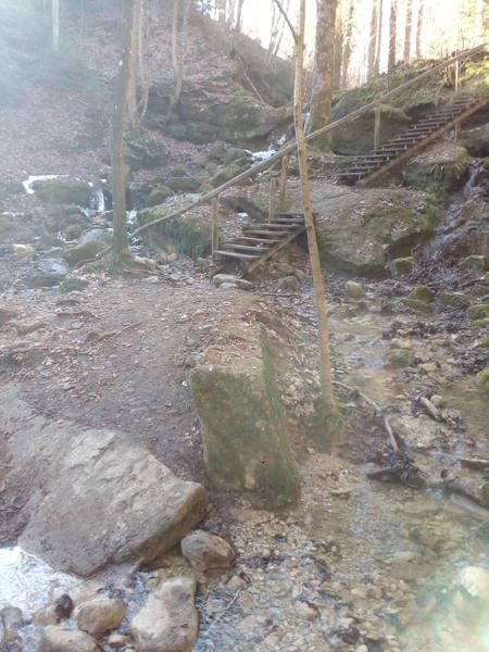 Treppen in der Feuersteinschlucht