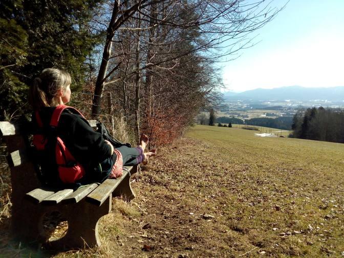 Relaxen auf der Panoramabank