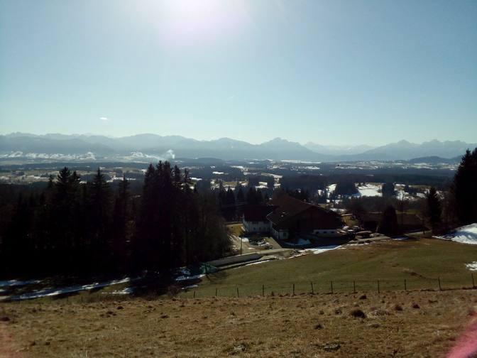 Wunderbarer Blick ins Tal und zu den Alpen