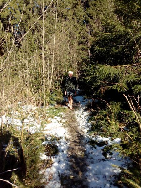 Wolfgang auf dem verwunschenen Waldpfad