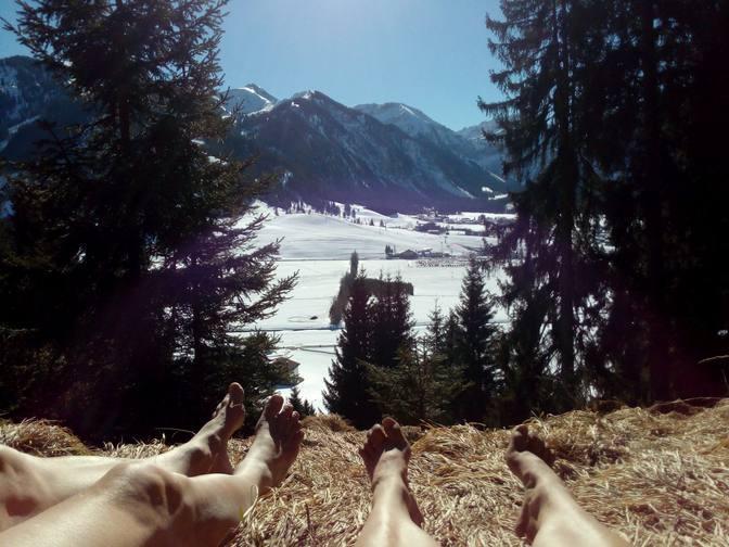 Sonnenbaden mit Panoramablick