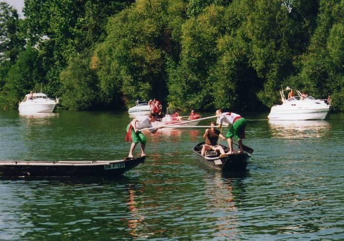 Fischerstechen in Bischberg bei Bamberg