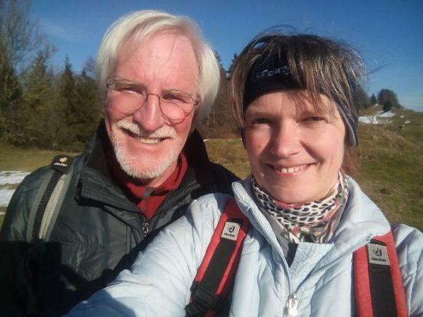 Wolfgang und Eva in Frühlingsstimmung