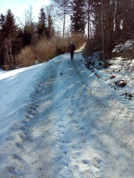 Eis und Schnee erfordern Minimalschuhe