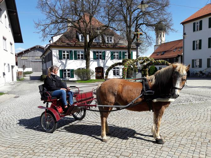 Pony-Gig auf dem Marktplatz Roßhaupten