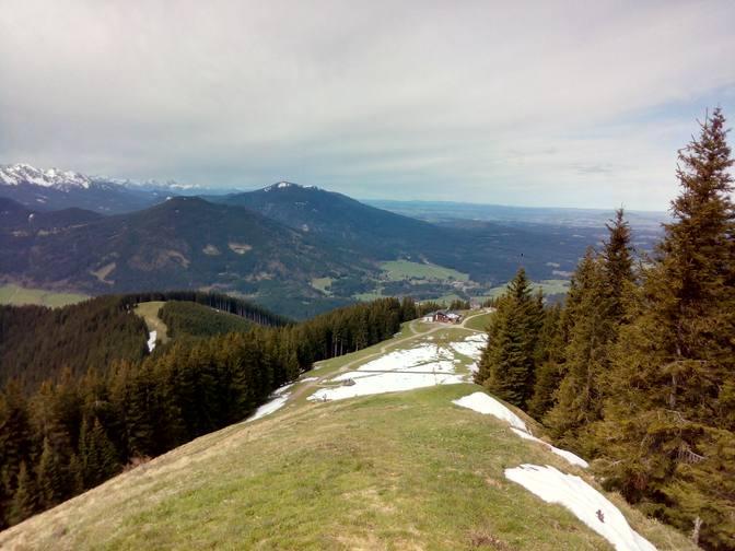 Blick zurück zur Hörnle-Hütte
