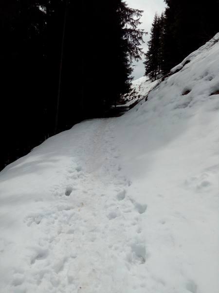 Viele Passagen mit verharschtem Schnee gilt es zu überwinden