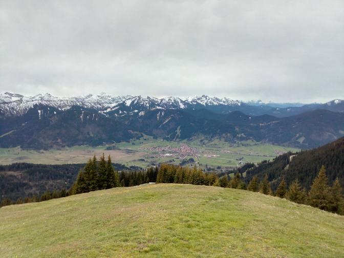 Blick nach Unterammergau