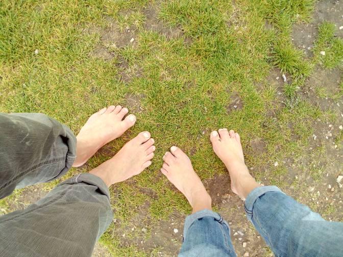 Unsere Füße genießen den weichen Boden