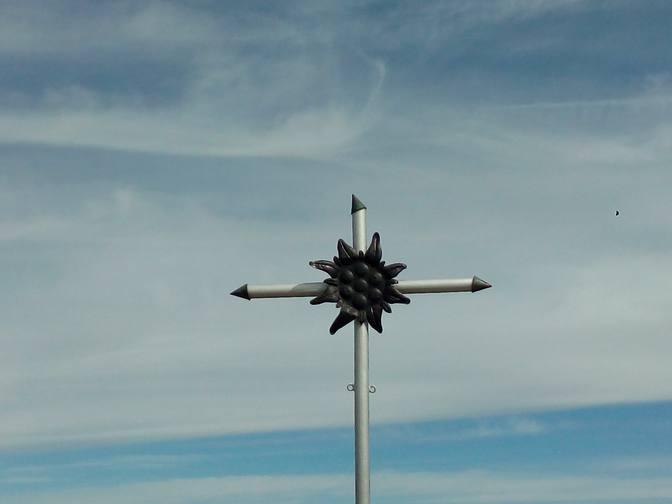 Das Bergkreuz an der Hörnle-Hütte