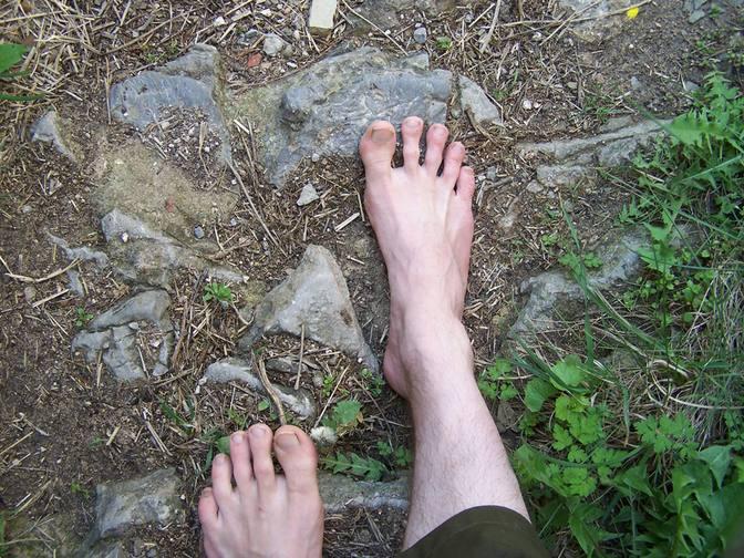 Interessante Wege für die Füße