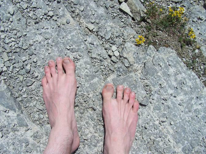 Steiniger Weg für meine Füße