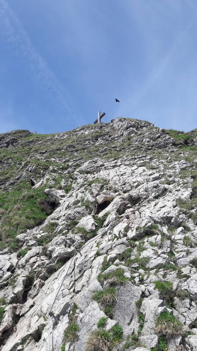 Das Gipfelkreuz des Aggensteins