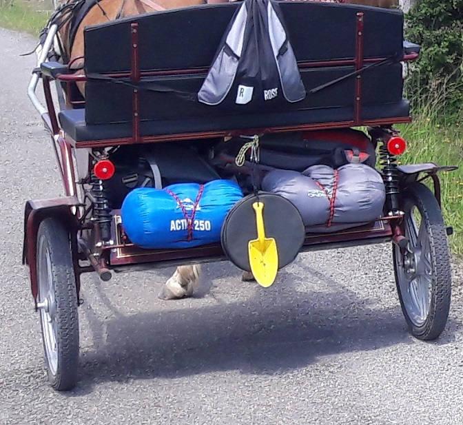 Gepäck auf dem Gig verstaut