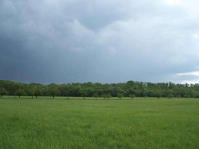 Regenwolken nähern sich