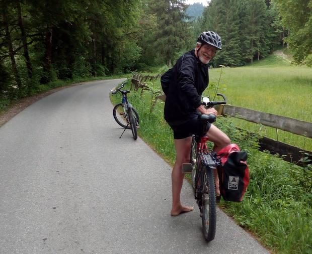 Wolfgang auf der Trauchbergrunde mit seinem Mountainbike