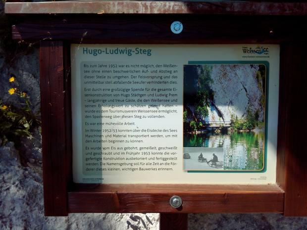 Erklärung des Hugo-Ludwig-Stegs am Weissensee