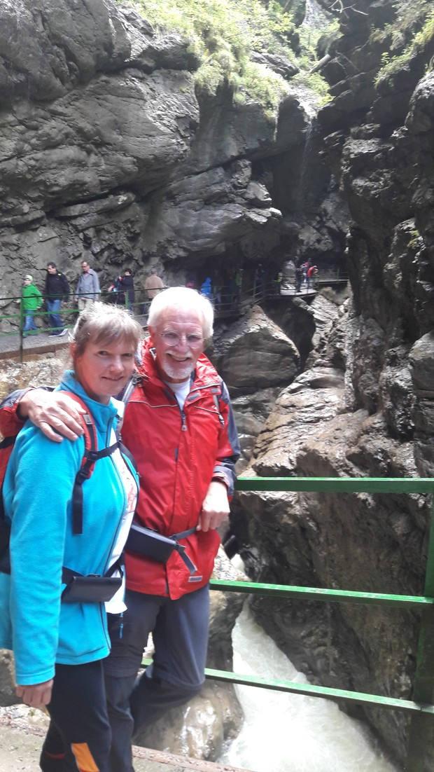 Wolfgang und Eva in der Breitachklamm