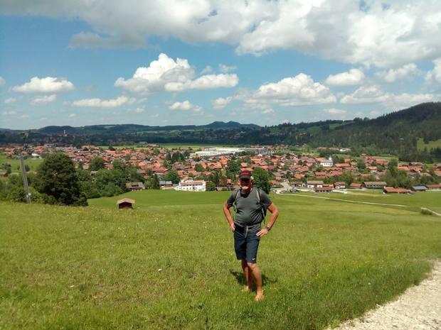 Wolfgang auf dem Weg zum Tiroler Stadl