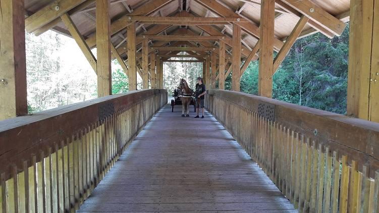 Marley und Eva auf der Brücke