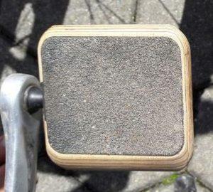 Die Fahrradpedale Moto Urban Classic, Ausrüstung zum barfuß radfahren