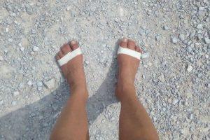 Tape an den Füßen