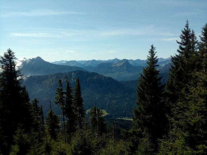 Blick auf die Österreichischen Alpen und Vilstal