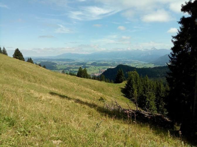 Blick von der Gundhütte ins Füssener Land
