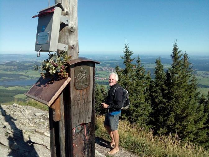 Wolfgang auf dem Gipfel des Alpspitz