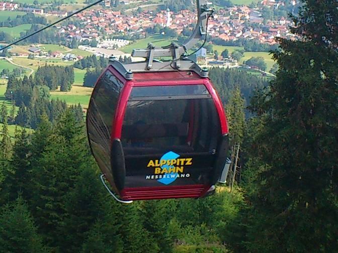 Die Kabinenbahn der Alpspitzbahn in Nesselwang