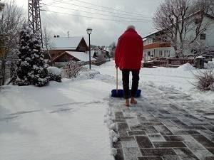 Barfuß im Winter mit Eva und Wolfgang