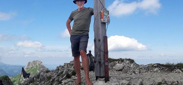 Barfuß auf das Brentenjoch (2000 m) in den Allgäuer Alpen