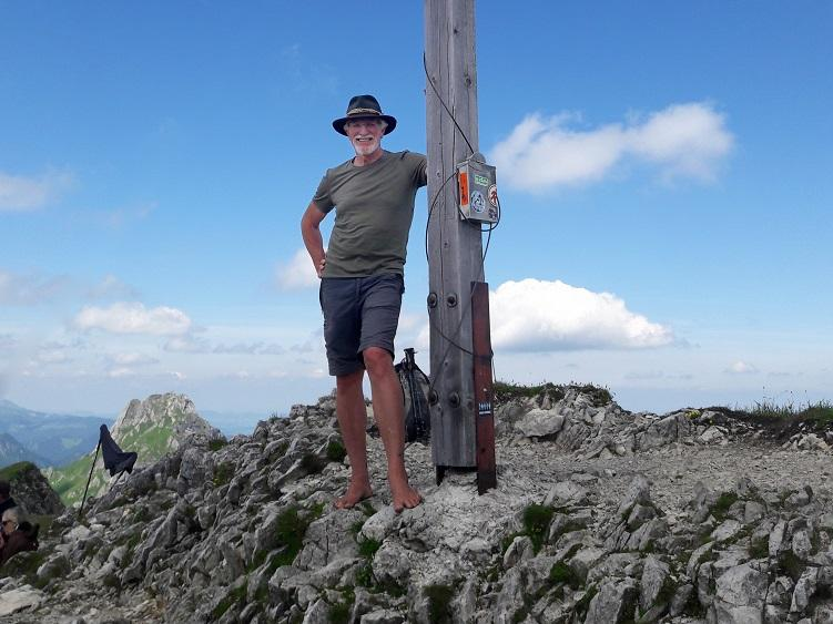 Wolfgang auf dem Gipfel des Brentenjoch