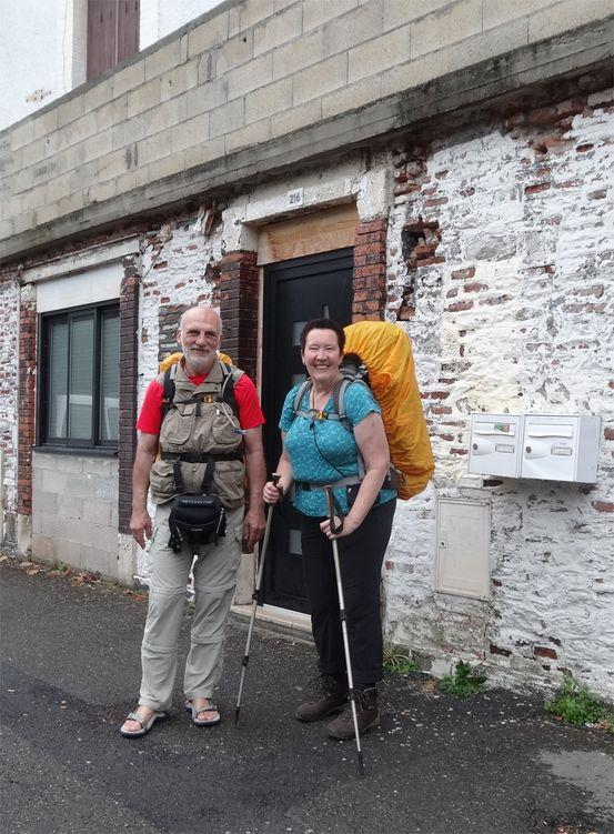 Barbara und Erich Dietloff auf dem Pilgerweg
