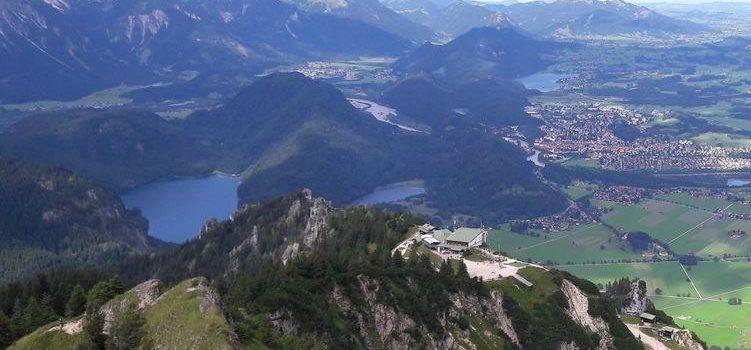 Blick vom Brentenjoch auf den Alpsee