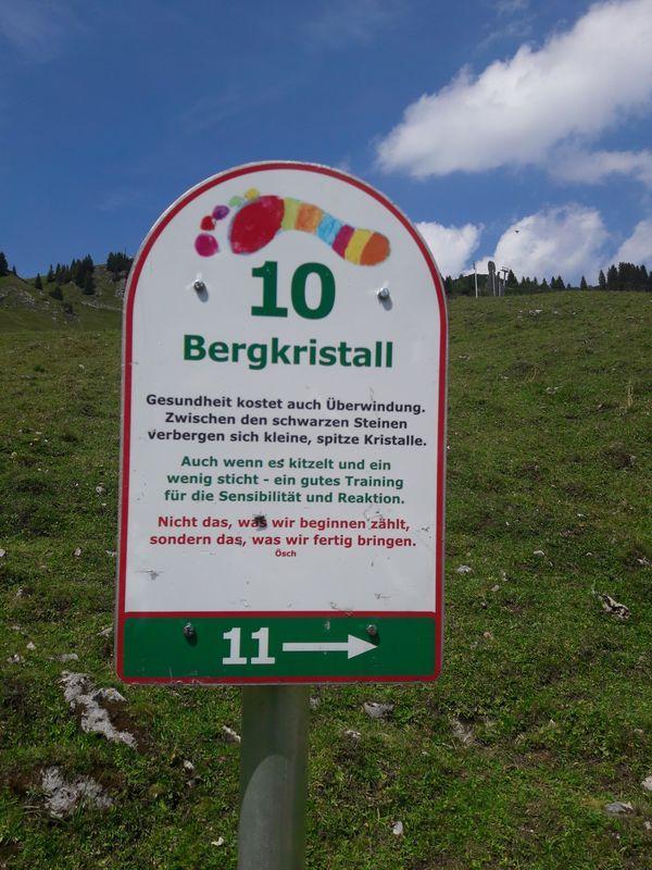 "Schild ""Bergkristall"""
