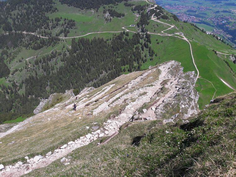Aufstieg über den Langen Strich auf den Aggenstein